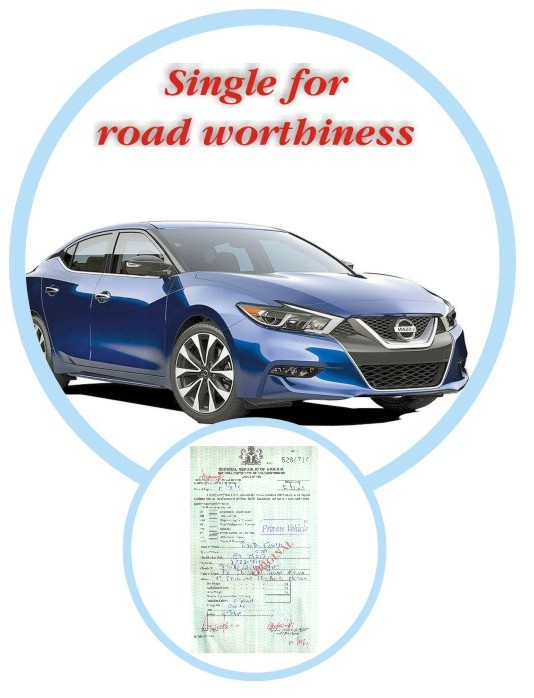 Company Car Road Worthiness Certificate