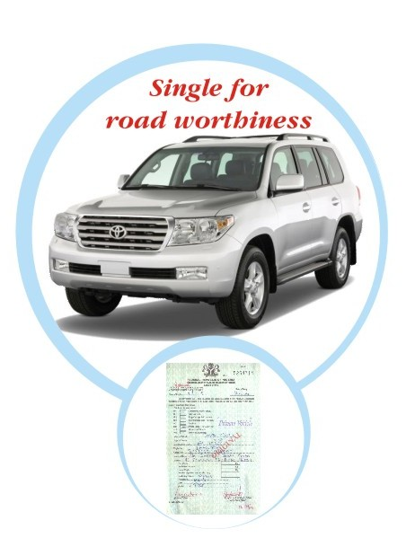 Company Vehicle (SUV) Road Worthiness Certificate